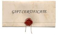 Preset Gift Certificate Codes